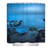 Blue Hour Sunset Shower Curtain