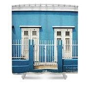 Blue Curacao House Shower Curtain