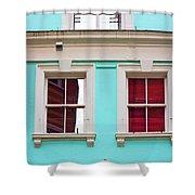 Blue House Shower Curtain