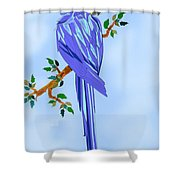 Blue Hyacinth Shower Curtain