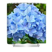 Blue Hydrangea Floral Art Print Hydrangeas Flowers Baslee Troutman Shower Curtain