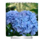 Blue Hydrangea Flower Art Prints Baslee Troutman Shower Curtain