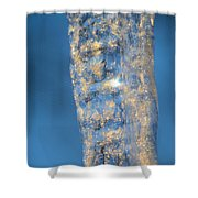 Blue Ice 5 Shower Curtain
