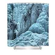 Blue Ice Flows At Tangle Falls Shower Curtain
