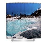 Blue Ice Sheet - Lake Hiayaha Shower Curtain