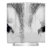 Blue Ice Shower Curtain