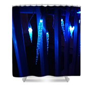 Blue Icicles Shower Curtain