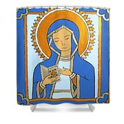 Blue Icon Shower Curtain