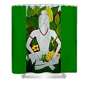 Blue Idol Shower Curtain