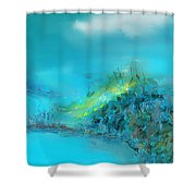 Blue Impressions Shower Curtain