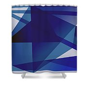 Blue In Blue Shower Curtain