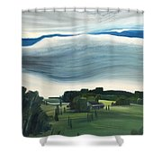 Blue In The Sky Shower Curtain