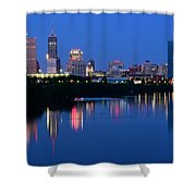 Blue Indianapolis Shower Curtain