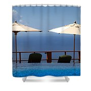 Blue Infinity Shower Curtain
