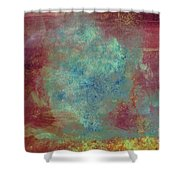 Blue Iron Texture Painting Shower Curtain