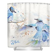 Blue Jays Shower Curtain