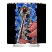 Blue Jazz Shower Curtain