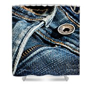 Blue Jeans Shower Curtain