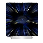 Blue Jets Pattern Shower Curtain