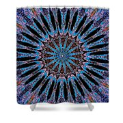 Blue Jewel Starlet Shower Curtain