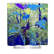 Blue Jungle Shower Curtain