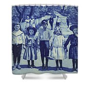 Blue Kids Shower Curtain
