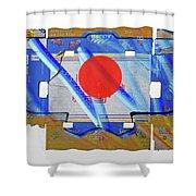 Blue Kimono Shower Curtain