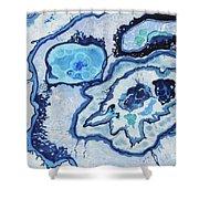 Blue Lace Agate I Shower Curtain