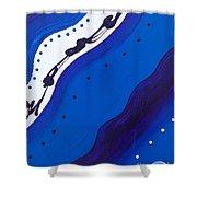 Blue Lace Shower Curtain