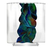 Blue Ladder Shower Curtain