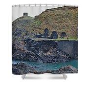 Blue Lagoon 2 Abereiddy Wales Shower Curtain