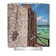 Blue Lagoon View 1 Shower Curtain