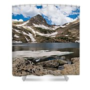 Blue Lake Colorado Shower Curtain