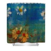 Blue Landscape In Oil Shower Curtain