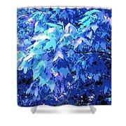 Blue Autumn  Shower Curtain