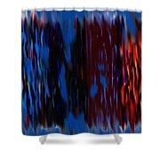 Blue Liquid Shower Curtain