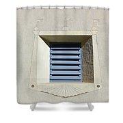 Blue Louvers 2 Shower Curtain