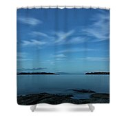Blue Madrona Shower Curtain
