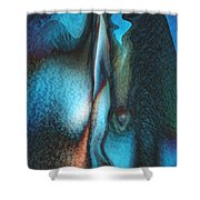 Blue Man Shower Curtain