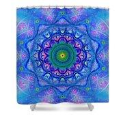 Blue Mandala For Heart Chakra Shower Curtain