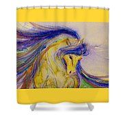 Blue Mane And Tail Shower Curtain