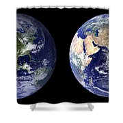 Blue Marble Composite Images Generated By Nasa Shower Curtain