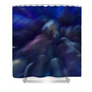 Blue Marbles Shower Curtain