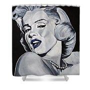 Blue Marilyn  Shower Curtain