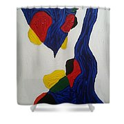 Blue Meanies Shower Curtain