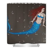 Blue Mermaid Shower Curtain