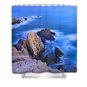 Blue Mermaid Reef At Sunset Shower Curtain