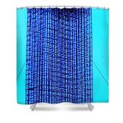 Blue Metal Mesh Shower Curtain