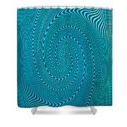 Blue Metal Spca Shower Curtain
