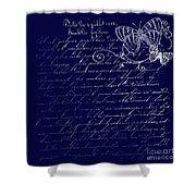 Blue Midnight Butterfly Shower Curtain